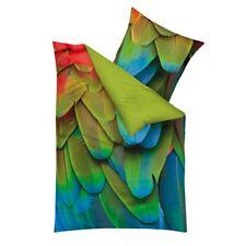 Kaeppel Mako Satin Bettwäsche Exotique smaragd 2 x 80x80 + 2 x 135x200cm =4tlg.
