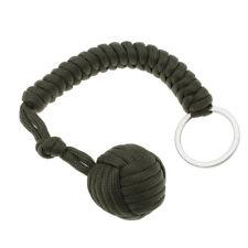 Hot! Outdoor Keyring Fist Paracord Steel Ball Monkey Fist Paracord Lanyard