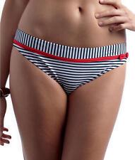 PANACHE CLEO Lucille BIKINI BRIEF Blue White Stripe Size 8 NEW