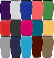 New Ladies Plus Size Stretch Waist Band Pencil Midi Skirts 16-26