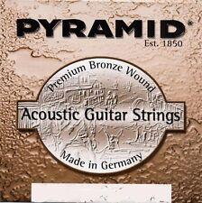 PYRAMID Akustik Gitarre Premium Bronze Saiten SATZ Acoustic Guitar Strings SET