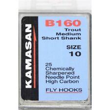 Kamasan B160 Trout Medium Short Shank Fly Tying Game Fishing Hooks All Sizes NEW