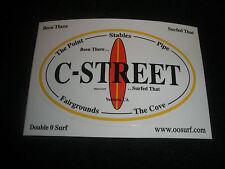 """C - Street Surf Surfing Surfboard Sticker """"Surfed That"""""""