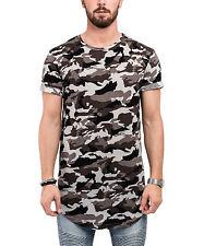 Phoenix Round Oversize T-Shirt Camo Midnight Camouflage Longshirt Long Men's