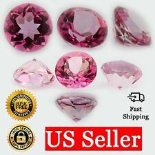 Loose Round Cut Genuine Natural Pink Topaz Stone Single October Birthstone Shape