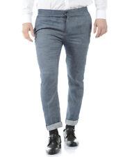 Pantaloni Daniele Alessandrini Trouser -50% Lino Uomo Blu P3341S19853700-23