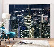 Manhattan Night Light NYC 3D Curtain Blockout Photo Print Curtains Fabric Window