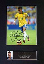 NEYMAR DA SILVA SANTOS Signed Mounted Autograph Photo Prints A4 461