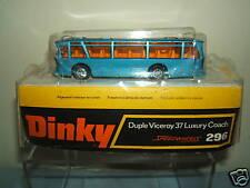 "Dinky toys modèle No.296 duple viceroy 37 luxe coach ""haute plinthe box"" mib"