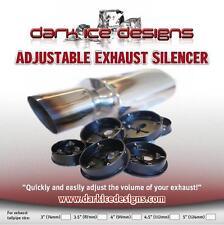 "Adjustable Volume 4.5"" Car Exhaust Silencer Baffle DB KILLER - UK made SIL.004"