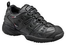 Skidbuster Mens Slip Resistant Waterproof Athletic W Black Leather Shoes