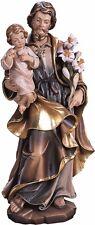 STATUA San Giuseppe Con Bambino. St. Joseph with Child Wood Carved