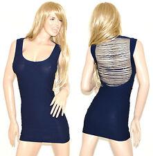 Vestito donna blu miniabito mini dress elasticizzato aderente sexy kleid 54