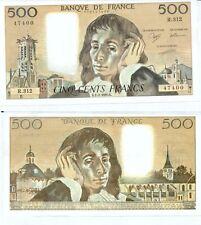 Gertbrolen 500 FRANCS PASCAL du 1-2-1990    R. 312 Billet Numéro  779147400