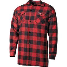 Fox Outdoor Lumberjack Chemise Flanelle Hommes Randonnée Rouge Noir Carreaux