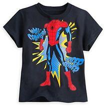 Disney Store Amazing Spiderman Disfraz Superhéroe Comic Camiseta Talla 2/3 - 4