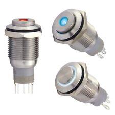 18mm Edelstahl-Taster m. 12V LED Punkt-/Ringbeleuchtung, 1 Wechsler 3A/250V IP67