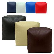 Beanbag Cube Faux Leather Seat Footrest Pouffe