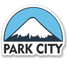 2 x Park City USA Ski Snowboard Vinyl Sticker Laptop Travel Luggage Car #5159