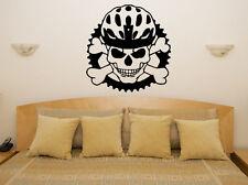 Crâne Casque - Moto,Skateboard Art décalque autocollant image affiche décoration