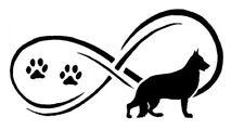 Schäferhund Pfote Eternety Hund Aufkleber 2 Stck. JDM Decal Auto Sticker 15 cm
