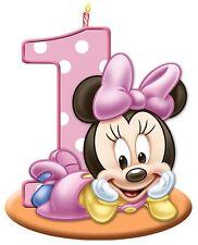 "6""-9.5"" DISNEY BABIES MINNIE MOUSE 1ST BIRTHDAY  WALL SAFE STICKER BORDER CUT"