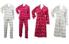 Patrón de renos Fairisle & Set O Baño Bata Pijamas Damas velludo Ropa de dormir