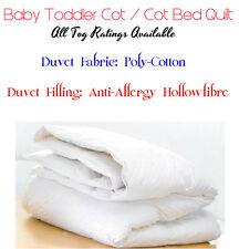 ANTI ALLERGY BABY TODDLER COT BED DUVET QUILT NURSERY JUNIOR