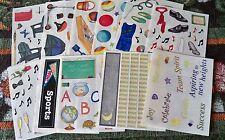 Creative Memories Block Sticker Sheet~U Choose One~Summer,School,Gymnastics
