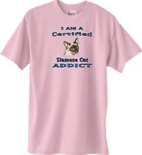 Big Dog T Shirt- I Am A Certified Siamese Cat Addict Men Women Adopt Animal 55