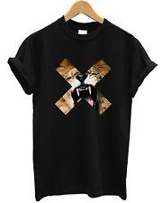 Lion Cross T Shirt Top x Roar Urban Hip Hop Street Style Kleidung Marke Frauen Mädchen