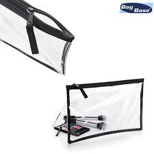BagBase Clear Grab Pouch BG8 - Transparent Make Up Bag Cosmetics Clutch Case
