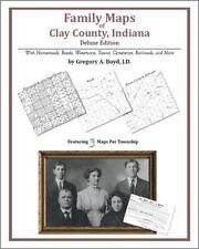 Family Maps Clay County Indiana Genealogy Plat History