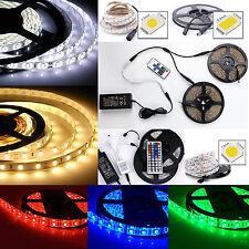 1M-10M 5M LED Strip 5050 RGB 5630 3528 Streifen 30/60 Leds Band Leiste Netzteil