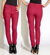 Karen Kane Fuschia Color Twill Lightweight Stretch Skinny Denim Jeans - $108