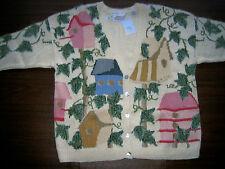 MARISA CHRISTINA II Sweater Bird Houses ~ 3X ~ NEW with TAG