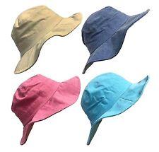 Ladies Women Cotton Pigment Dyed Floppy Brim Summer Sun Hat