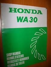 Honda WA30 Pompe à eau : MANUEL D'ATELIER SHOP MANUAL