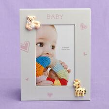NEW Baby Boy Girl Pink Blue Teddy Giraffe 6x4 4x6 Photo Frame Shower Christening