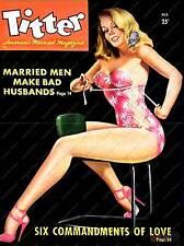 Titter,   Vintage Mens magazine  poster reproduction