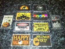 Horror Themed Fridge Magnet Choice. NEW. Halloween Party etc. Pumpkin, Zombie