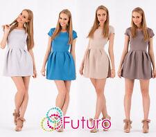 Sexy Stylish Womens Mini Dress Short Sleeve Crew Neck Tunic Sizes 8-12 FA265