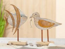 Maritime Möwe oder Fisch aus Holz, HxBxT ca. 18 x 15 x 1,5cm