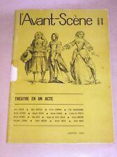 L'AVANT-SCENE / SPECIAL THEATRE EN 1 ACTE / RARE +++++