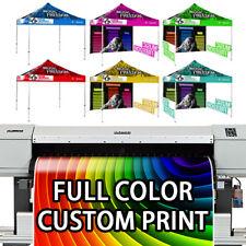 Pop Up Canopy Full Color Custom Print Trade Show Booth Vendor Tent 10x10