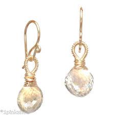 Sicily 157 ~Crystal Quartz Earrings, Metal Choice