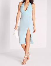 Missguided Anudado Vestido Midi Azul (M33/27)