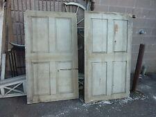 "Pr c1780 Raised panel Indian pocket shutters tan 60 x 34"" Mortised & Pegged"