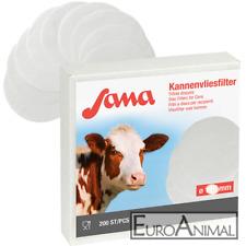 200 x  Kannenvliesfilter Milchfilter Filterscheiben Milchkannenfilter 115-270mm