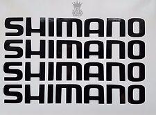 4 x Shimano Decalcomanie-Adesivi in vinile - 20cm lunga Canna Da Pesca Scatola SEDILI SEDILE Rod